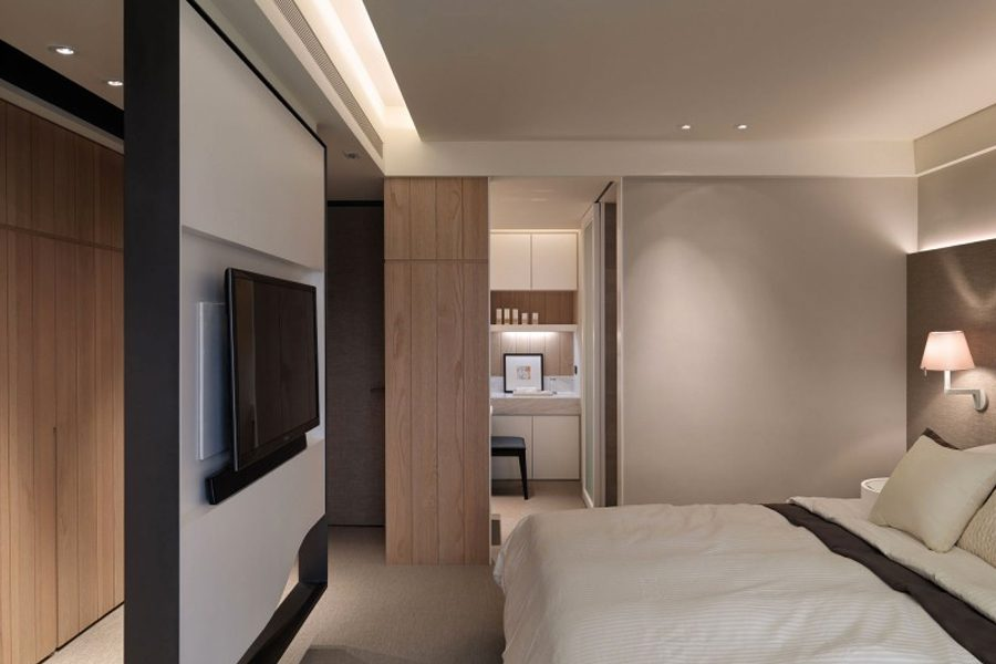 bedroom partition wall