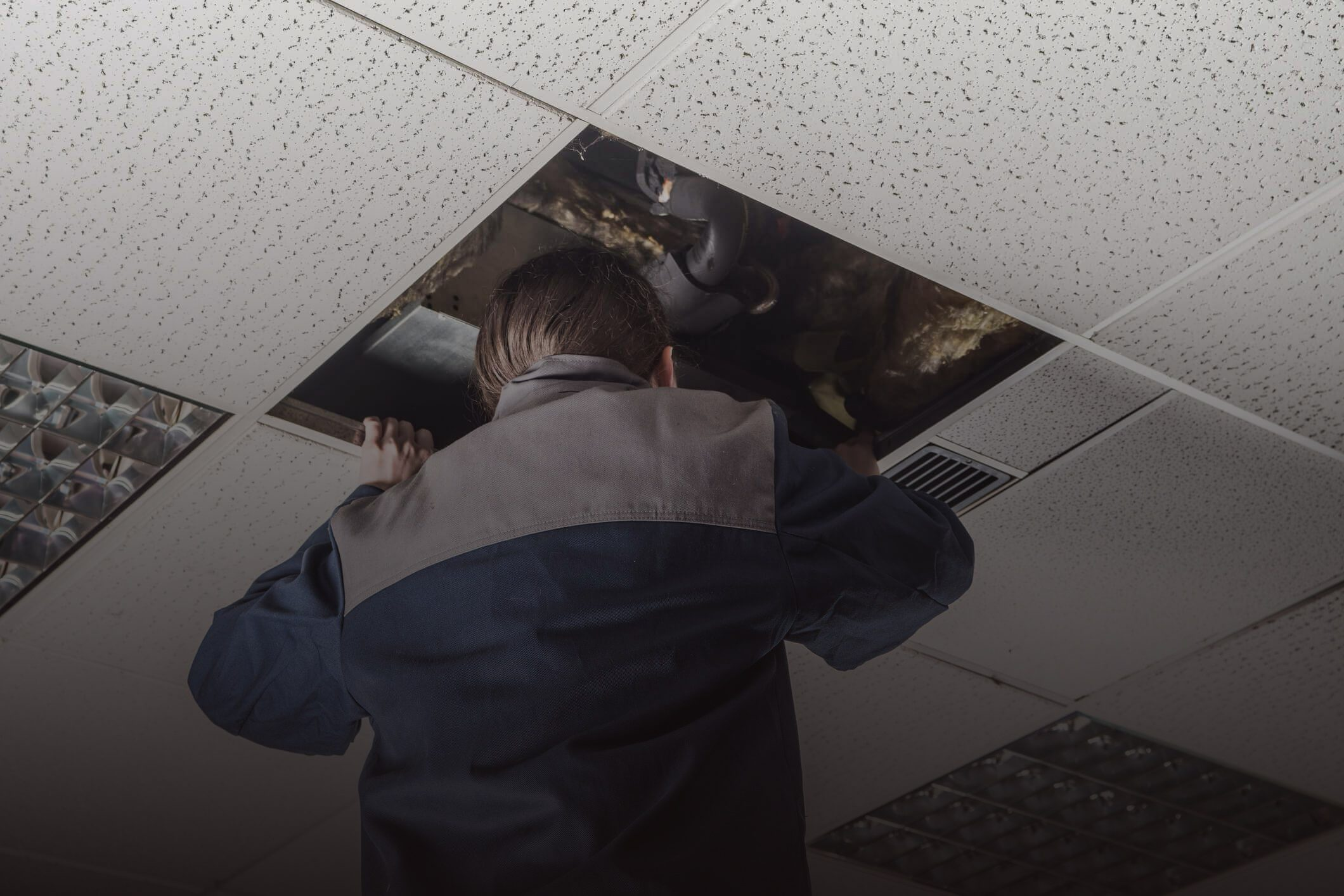 office ceiling installation